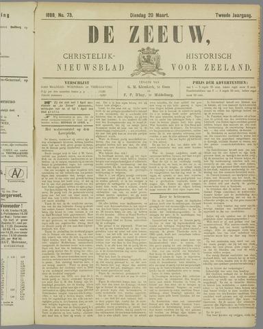 De Zeeuw. Christelijk-historisch nieuwsblad voor Zeeland 1888-03-20