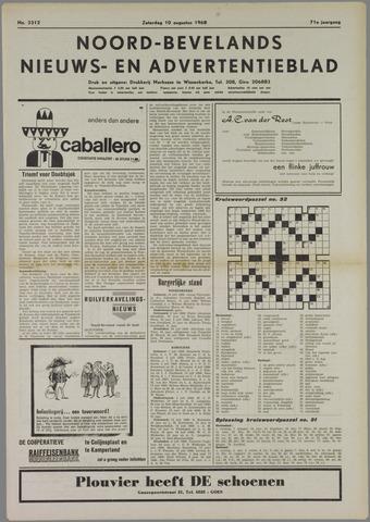 Noord-Bevelands Nieuws- en advertentieblad 1968-08-10