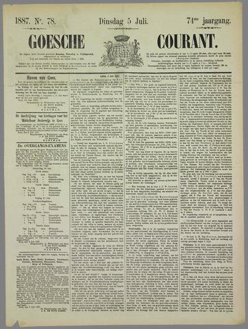 Goessche Courant 1887-07-05