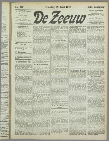 De Zeeuw. Christelijk-historisch nieuwsblad voor Zeeland 1918-06-18