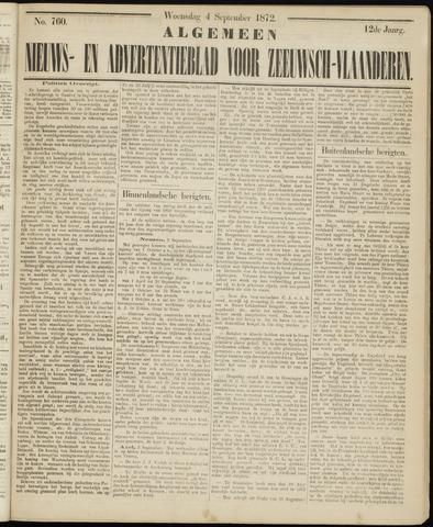 Ter Neuzensche Courant. Algemeen Nieuws- en Advertentieblad voor Zeeuwsch-Vlaanderen / Neuzensche Courant ... (idem) / (Algemeen) nieuws en advertentieblad voor Zeeuwsch-Vlaanderen 1872-09-04