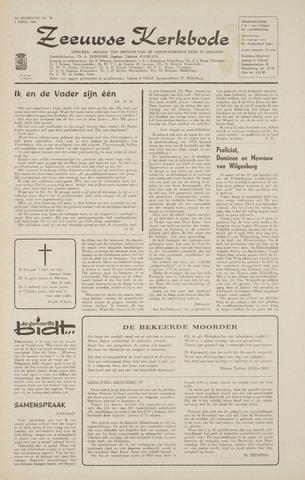Zeeuwsche kerkbode, weekblad gewijd aan de belangen der gereformeerde kerken/ Zeeuwsch kerkblad 1968-04-04
