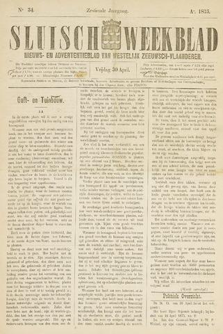 Sluisch Weekblad. Nieuws- en advertentieblad voor Westelijk Zeeuwsch-Vlaanderen 1875-04-30