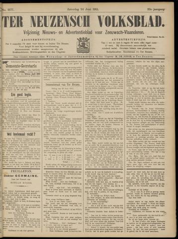 Ter Neuzensch Volksblad. Vrijzinnig nieuws- en advertentieblad voor Zeeuwsch- Vlaanderen / Zeeuwsch Nieuwsblad. Nieuws- en advertentieblad voor Zeeland 1911-06-24