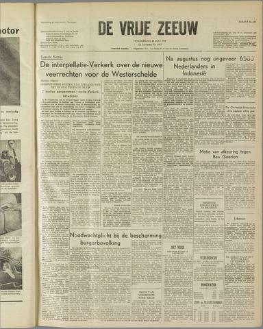 de Vrije Zeeuw 1958-07-10