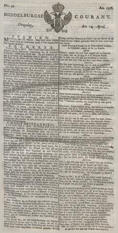 Middelburgsche Courant 1778-04-14