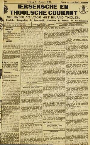 Ierseksche en Thoolsche Courant 1930-01-24