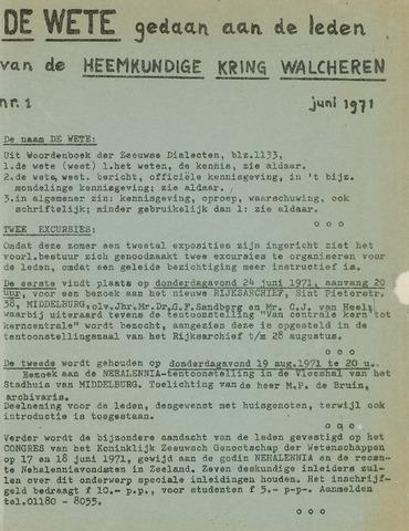de Wete 1971-06-01