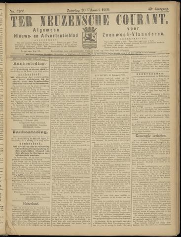 Ter Neuzensche Courant. Algemeen Nieuws- en Advertentieblad voor Zeeuwsch-Vlaanderen / Neuzensche Courant ... (idem) / (Algemeen) nieuws en advertentieblad voor Zeeuwsch-Vlaanderen 1909-02-20