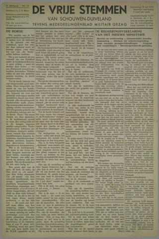 Vrije Stemmen van Schouwen-Duiveland, tevens mededeelingenblad Militair Gezag 1945-07-12