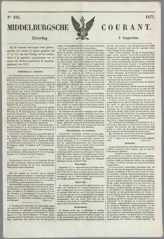 Middelburgsche Courant 1871-08-05