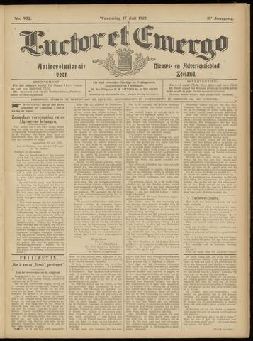 Luctor et Emergo. Antirevolutionair nieuws- en advertentieblad voor Zeeland / Zeeuwsch-Vlaanderen. Orgaan ter verspreiding van de christelijke beginselen in Zeeuwsch-Vlaanderen 1912-07-17