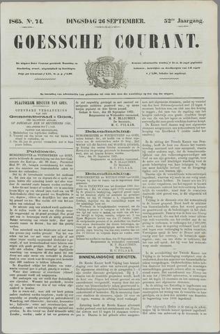 Goessche Courant 1865-09-26