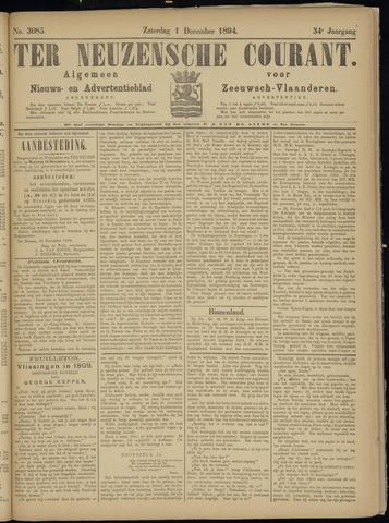Ter Neuzensche Courant. Algemeen Nieuws- en Advertentieblad voor Zeeuwsch-Vlaanderen / Neuzensche Courant ... (idem) / (Algemeen) nieuws en advertentieblad voor Zeeuwsch-Vlaanderen 1894-12-01