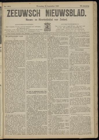 Ter Neuzensch Volksblad. Vrijzinnig nieuws- en advertentieblad voor Zeeuwsch- Vlaanderen / Zeeuwsch Nieuwsblad. Nieuws- en advertentieblad voor Zeeland 1918-09-25