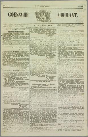 Goessche Courant 1857-10-05