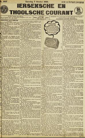 Ierseksche en Thoolsche Courant 1922-10-07