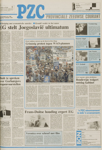Provinciale Zeeuwse Courant 1991-10-07