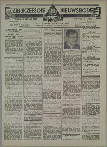 Zierikzeesche Nieuwsbode 1936-02-28