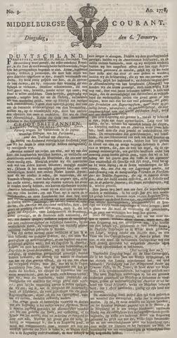 Middelburgsche Courant 1778-01-06