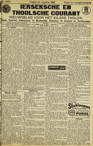 Ierseksche en Thoolsche Courant 1931-08-14