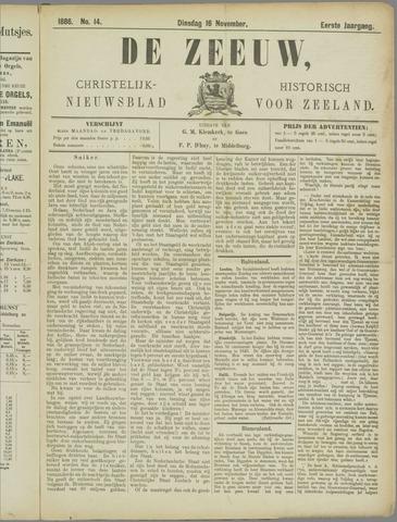 De Zeeuw. Christelijk-historisch nieuwsblad voor Zeeland 1886-11-16