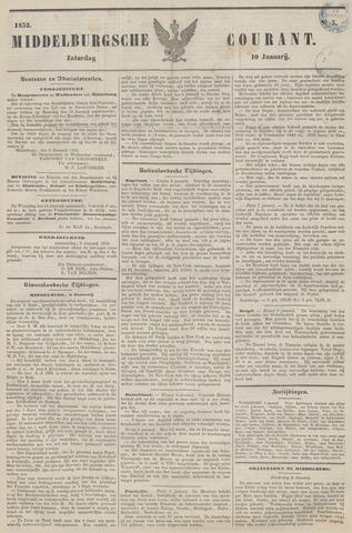 Middelburgsche Courant 1852-01-10