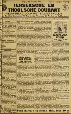 Ierseksche en Thoolsche Courant 1927-02-25