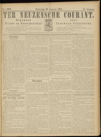 Ter Neuzensche Courant. Algemeen Nieuws- en Advertentieblad voor Zeeuwsch-Vlaanderen / Neuzensche Courant ... (idem) / (Algemeen) nieuws en advertentieblad voor Zeeuwsch-Vlaanderen 1907-08-29