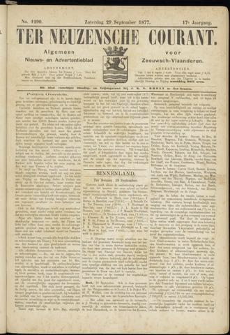 Ter Neuzensche Courant. Algemeen Nieuws- en Advertentieblad voor Zeeuwsch-Vlaanderen / Neuzensche Courant ... (idem) / (Algemeen) nieuws en advertentieblad voor Zeeuwsch-Vlaanderen 1877-09-29