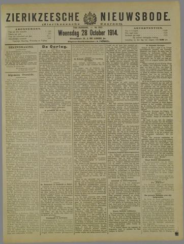 Zierikzeesche Nieuwsbode 1914-10-28