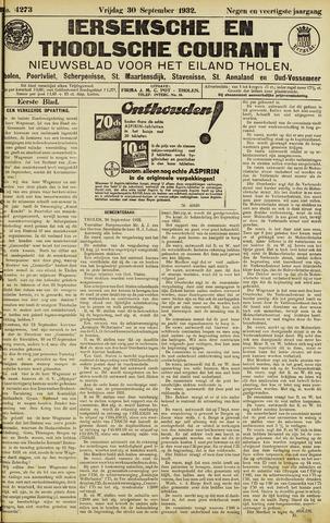 Ierseksche en Thoolsche Courant 1932-09-30