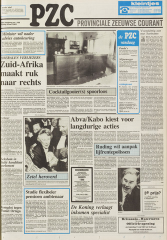 Provinciale Zeeuwse Courant 1987-05-08
