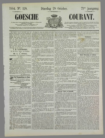 Goessche Courant 1884-10-28