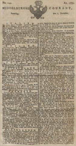 Middelburgsche Courant 1775-12-02