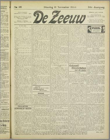 De Zeeuw. Christelijk-historisch nieuwsblad voor Zeeland 1924-11-11