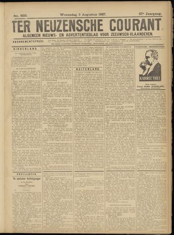 Ter Neuzensche Courant. Algemeen Nieuws- en Advertentieblad voor Zeeuwsch-Vlaanderen / Neuzensche Courant ... (idem) / (Algemeen) nieuws en advertentieblad voor Zeeuwsch-Vlaanderen 1927-08-03