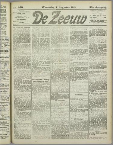 De Zeeuw. Christelijk-historisch nieuwsblad voor Zeeland 1918-08-07
