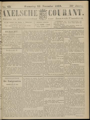 Axelsche Courant 1918-11-13