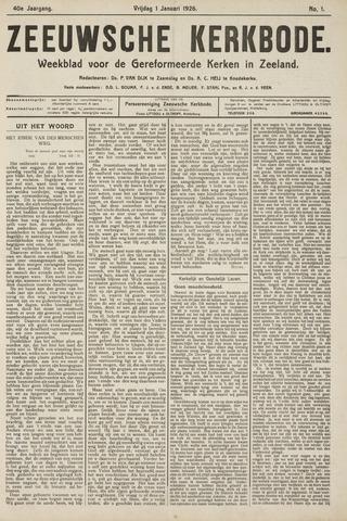 Zeeuwsche kerkbode, weekblad gewijd aan de belangen der gereformeerde kerken/ Zeeuwsch kerkblad 1926-01-01
