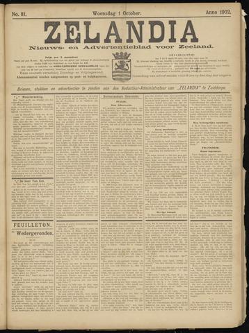 Zelandia. Nieuws-en advertentieblad voor Zeeland | edities: Het Land van Hulst en De Vier Ambachten 1902-10-01