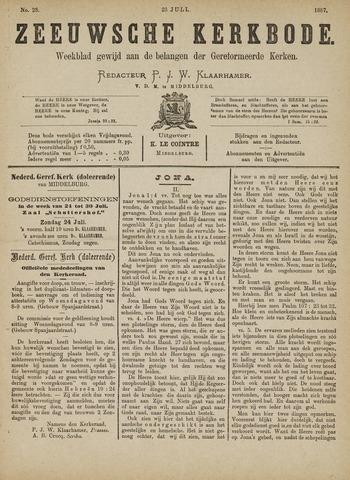 Zeeuwsche kerkbode, weekblad gewijd aan de belangen der gereformeerde kerken/ Zeeuwsch kerkblad 1887-07-23