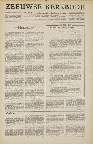 Zeeuwsche kerkbode, weekblad gewijd aan de belangen der gereformeerde kerken/ Zeeuwsch kerkblad 1956-10-26