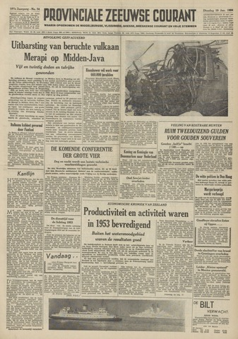 Provinciale Zeeuwse Courant 1954-01-19