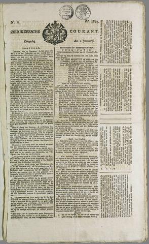 Zierikzeesche Courant 1827