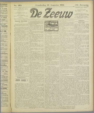 De Zeeuw. Christelijk-historisch nieuwsblad voor Zeeland 1919-08-14