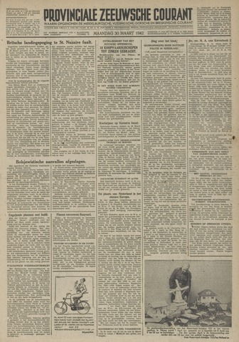 Provinciale Zeeuwse Courant 1942-03-30