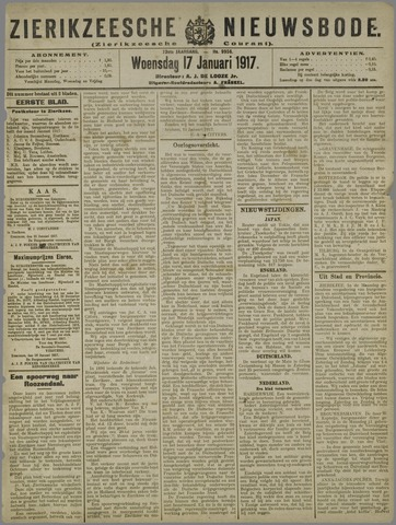 Zierikzeesche Nieuwsbode 1917-01-17