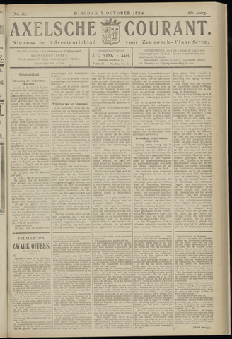 Axelsche Courant 1924-10-07
