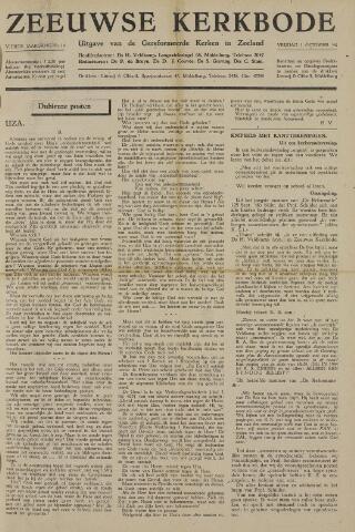 Zeeuwsche kerkbode, weekblad gewijd aan de belangen der gereformeerde kerken/ Zeeuwsch kerkblad 1948-10-01